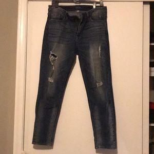 Women's distressed Denim skin jean